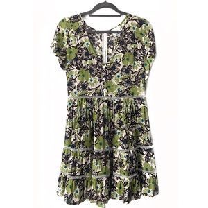 Skylar + Madison Babydoll Floral Print Dress